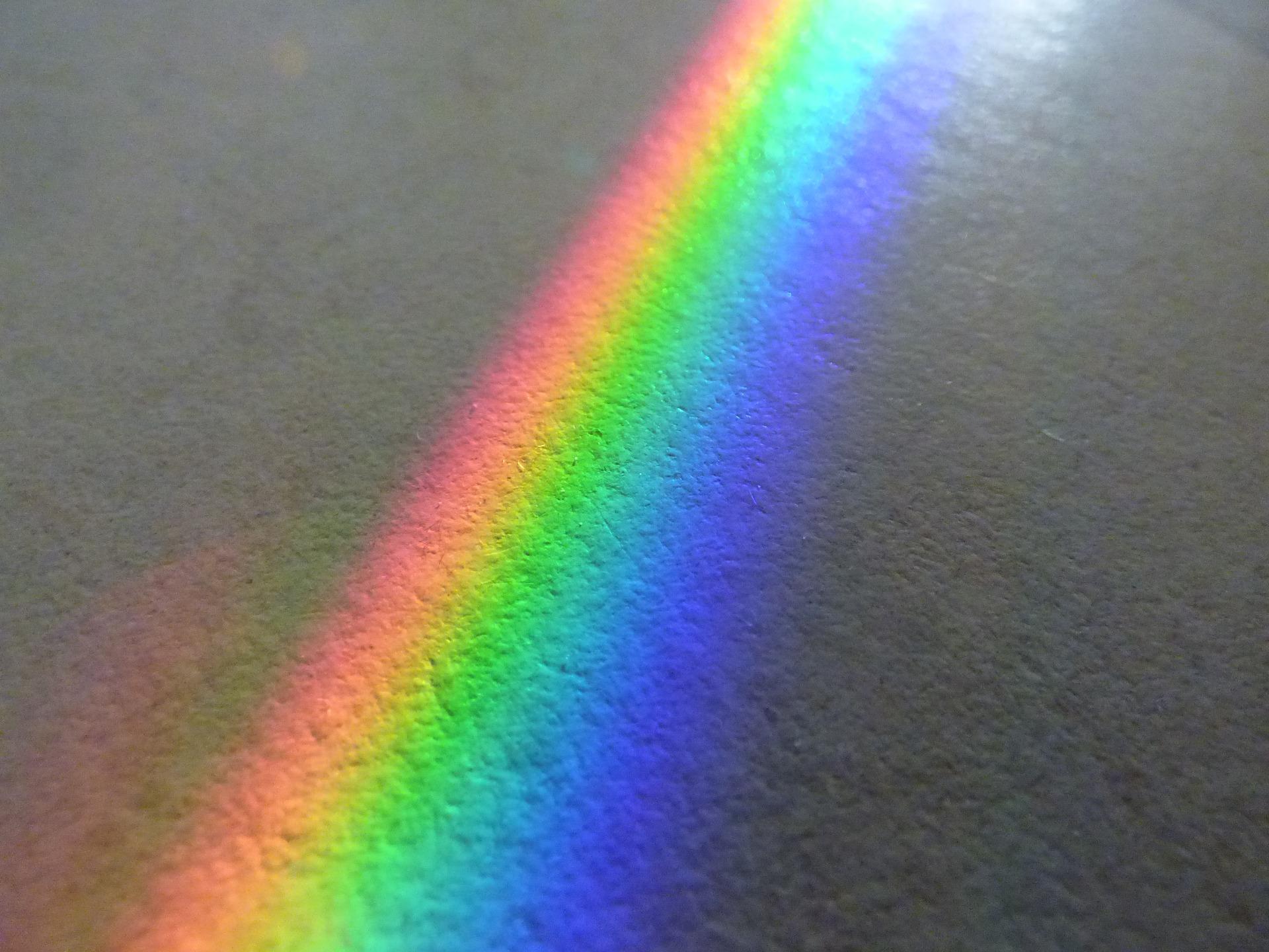 Spektrum barev - modrofialove světlo